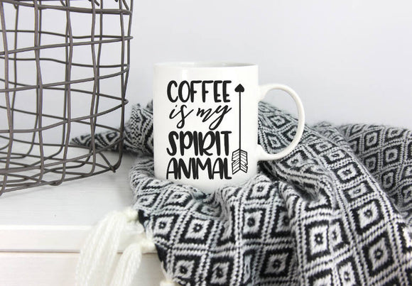 Coffee Is My Spirit Animal Mug | Coffee Mug