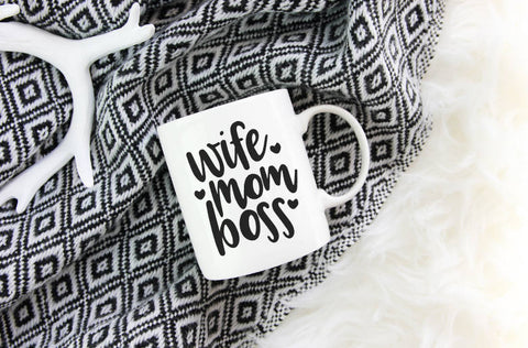 Wife Mom Boss Mug | Coffee Mug
