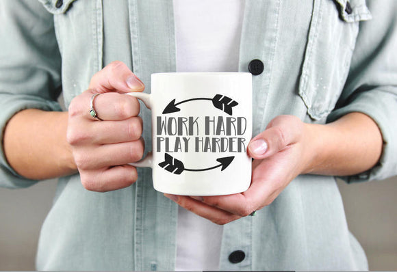 Work Hard Play Harder Mug | Coffee Mug