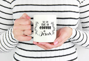 This Girl Runs on Coffee & Jesus Mug | Coffee Mug