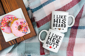 His Beard Her Butt Mug Set | Coffee Mugs