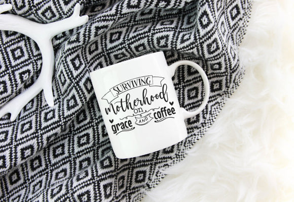 Surviving Motherhood on Grace and Coffee Mug | Coffee Mug