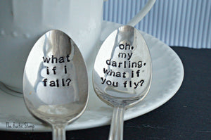 what if i fall?, oh my darling, what if you fly? | Stamped Spoon Set