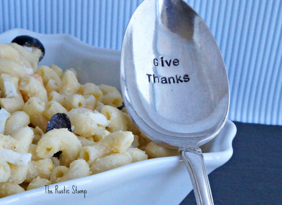 Give Thanks | Stamped Serving Spoon