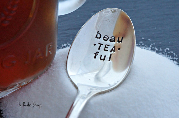 beau-TEA-ful | Stamped Iced Tea Spoon