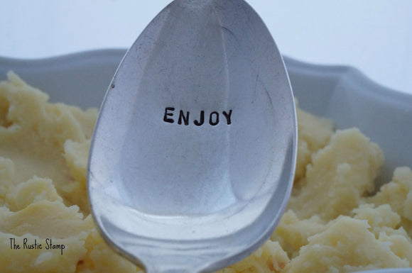Enjoy | Stamped Serving Spoon