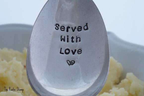 Served With Love | Stamped Serving Spoon