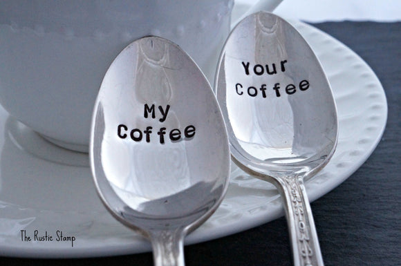 My Coffee, Your Coffee | Stamped Spoon Set