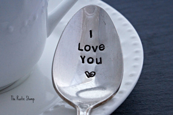 I Love You <3 | Stamped Spoon