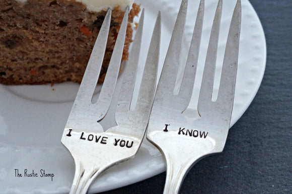 I Love You, I Know | Wedding Forks