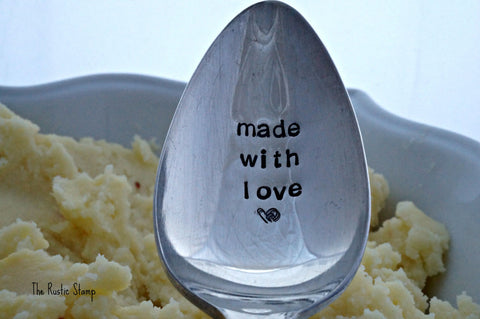 Made With Love | Stamped Serving Spoon