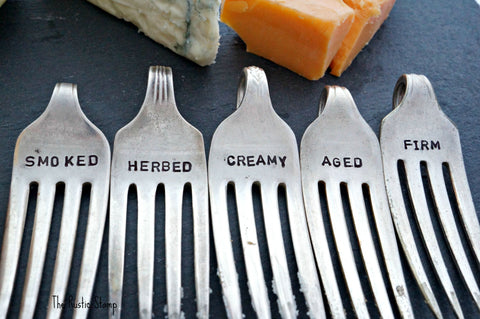 Upcycled Fork Cheese Marker Set