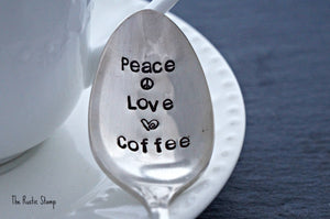 Peace Love Coffee | Stamped Spoon