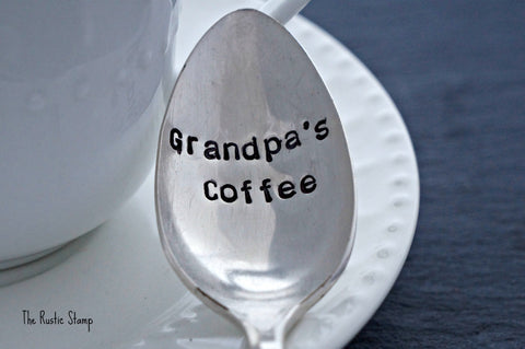 Grandpa's Coffee | Stamped Spoon