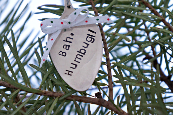 Bah, Humbug!! | Stamped Spoon Ornament