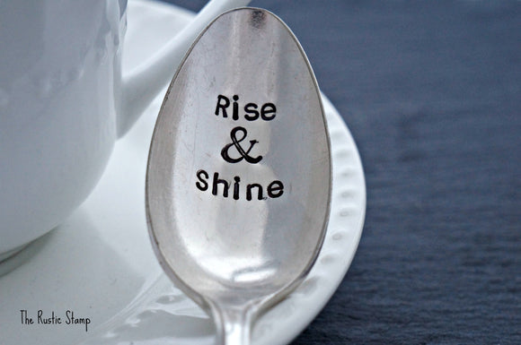 Rise & Shine | Stamped Spoon