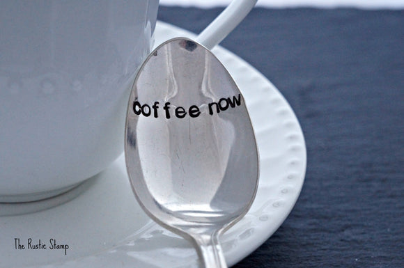 coffee now | Stamped Spoon