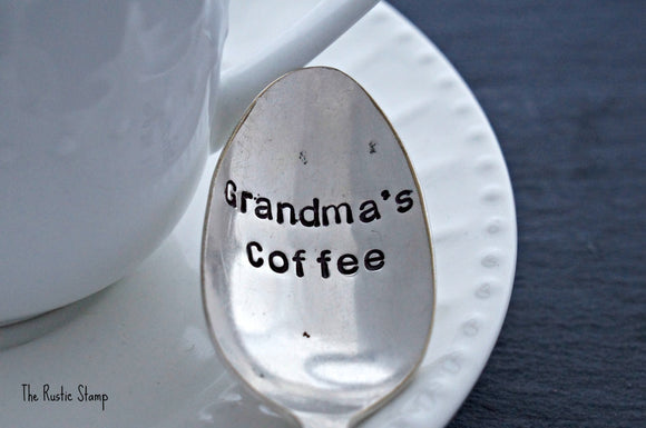 Grandma's Coffee | Stamped Spoon