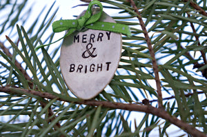 Merry & Bright | Stamped Spoon Ornament