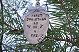 First Christmas as Mr & Mrs (year) | Stamped Spoon Ornament