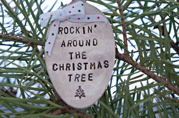 Rockin' Around the Christmas Tree | Stamped Spoon Ornament