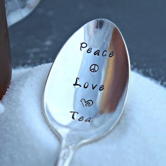 Peace Love Tea | Stamped Iced Tea Spoon