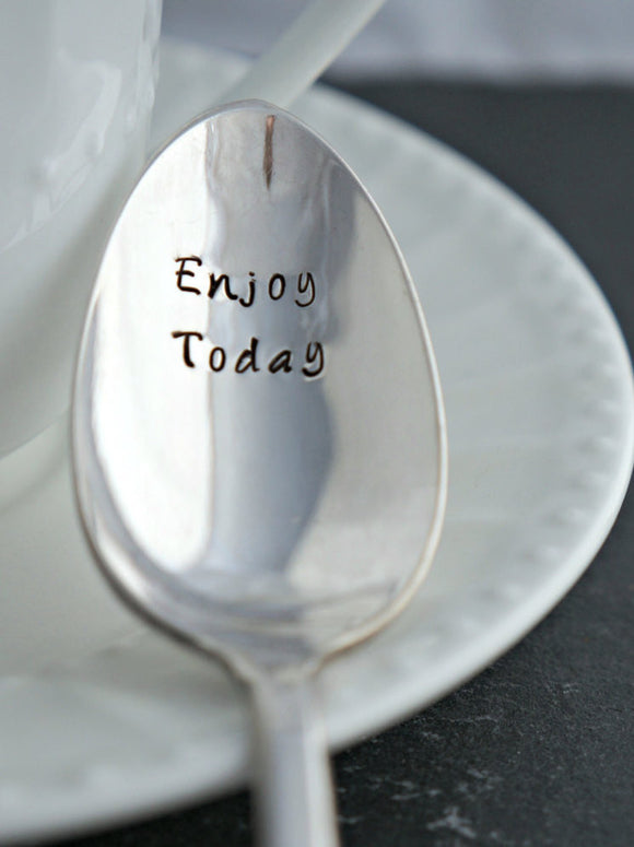 Enjoy Today | Stamped Spoon
