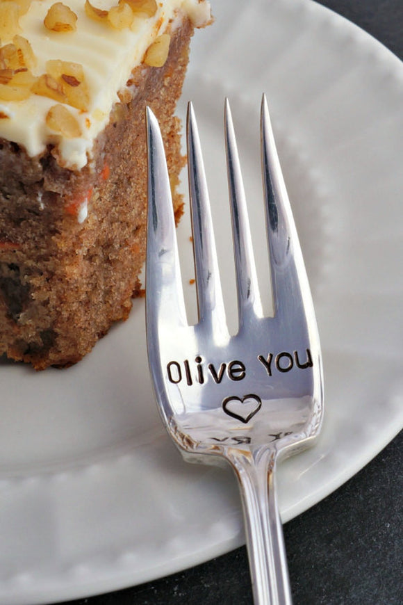 Olive You Fork | Stamped Fork
