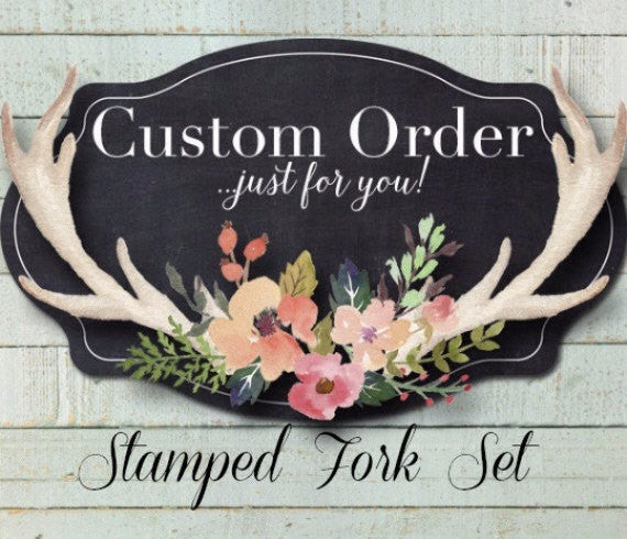 Custom Message Forks | Stamped Fork Set