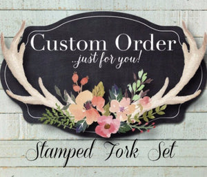 Custom Message Fork Set | Wedding Forks