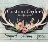 Custom Message Serving Spoon | Stamped Serving Spoon