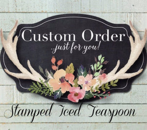 Custom Message Iced Teaspoon | Stamped Spoon