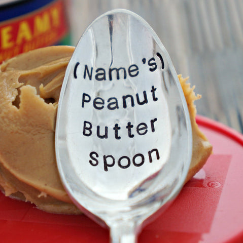 Personalized Peanut Butter Spoon | Stamped Spoon