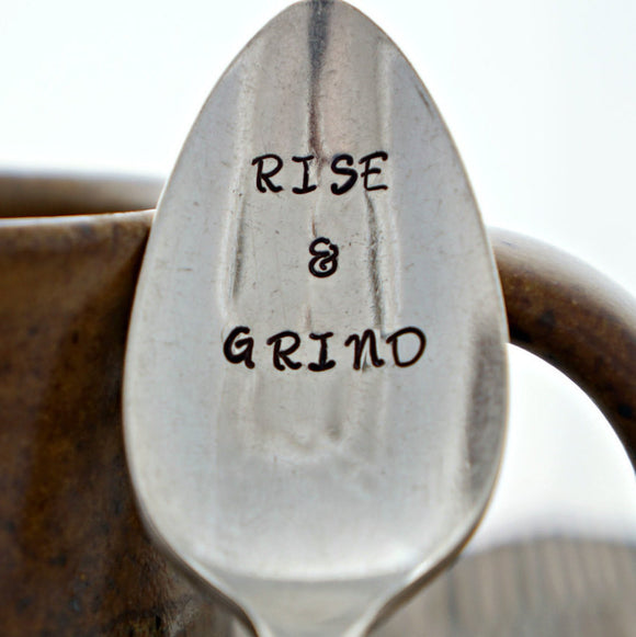 RISE & GRIND | Stamped Spoon