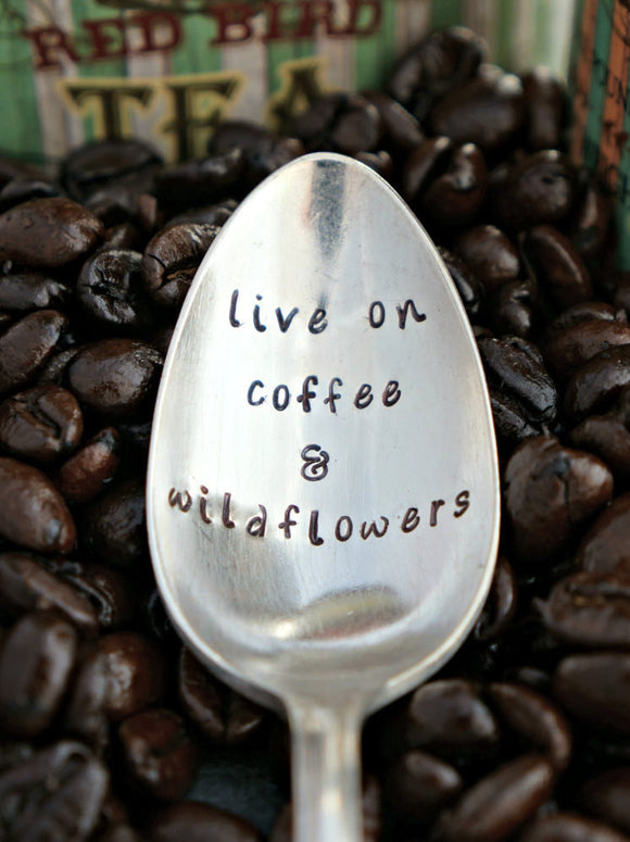 live on coffee & wildflowers | Stamped Spoon