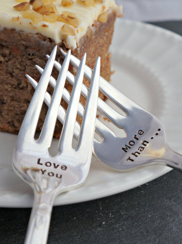 Love You, More Than | Wedding Forks