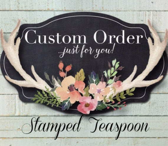 Custom Teaspoon | Custom Spoon