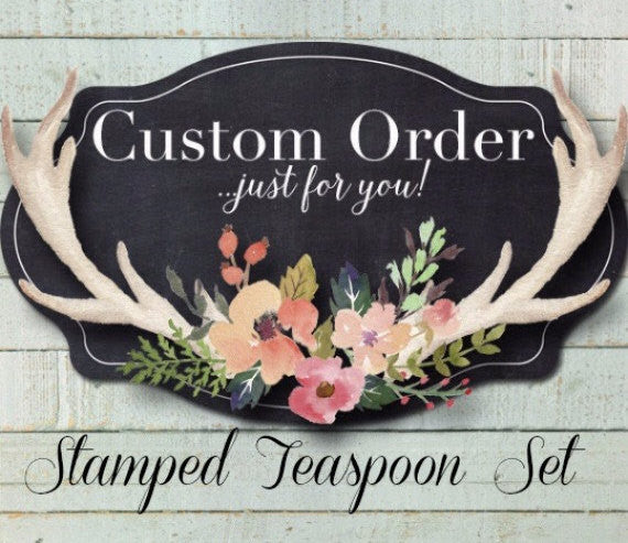 Custom Message | Stamped Spoon Set