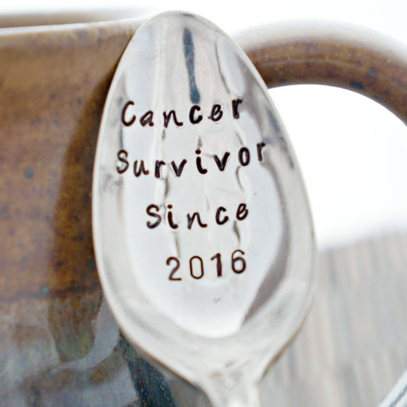 Cancer Survivor Since (year) | Stamped Spoon