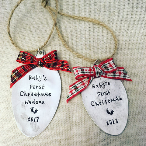 Baby's First Christmas | Stamped Spoon Ornament