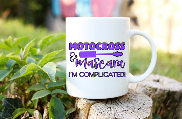 Motocross & Mascara I'm Complicated! | Coffee Mug