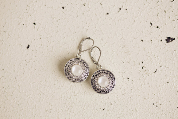 Snap Button Earrings - Stainless Steel