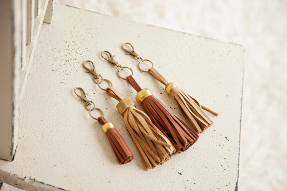 Accessory - Leather Tassel Keychain