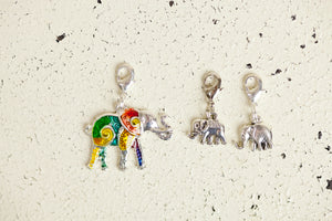 Charm - Elephant, Colorful Enamel