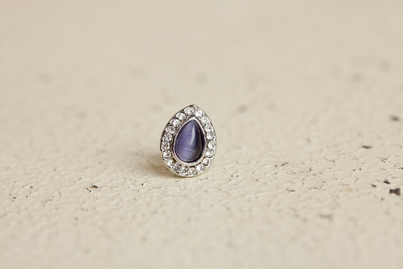 Grace Charm - Dark Opal Teardrop
