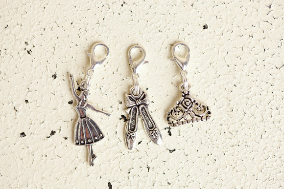 Charm - Ballerina, Ballet Shoes, Crown