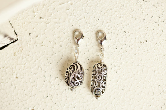 Charm - Ornate Pewter