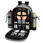 Deluxe Equipped 2 Person Picnic & Coffee Backpack -Hamptons