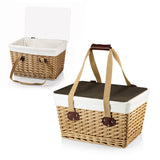 Canasta-Natural Flat Lid Basket Willow Brown Lid