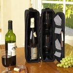 Sunset Wine Tote for 2 with Glasses  - Navy